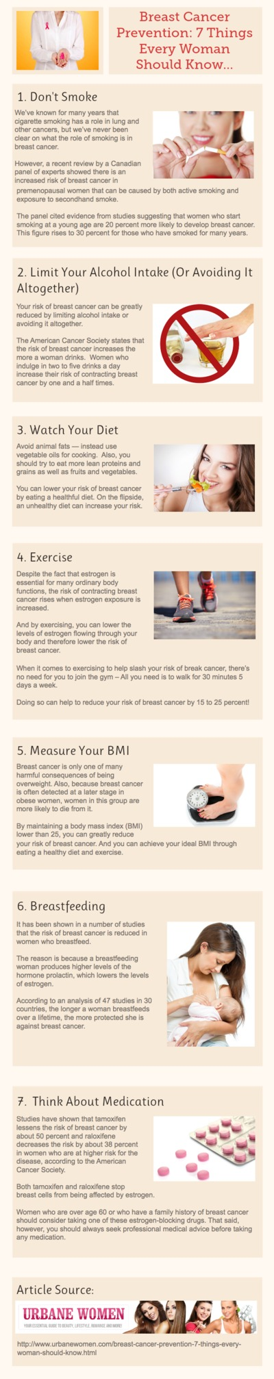 Breast Cancer Prevention: 7 Things Every Woman Should Know [Infographic]
