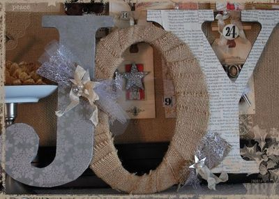 Decorated chipboard letters christmas xmas ideas juxtapost for Decoration 11 letters
