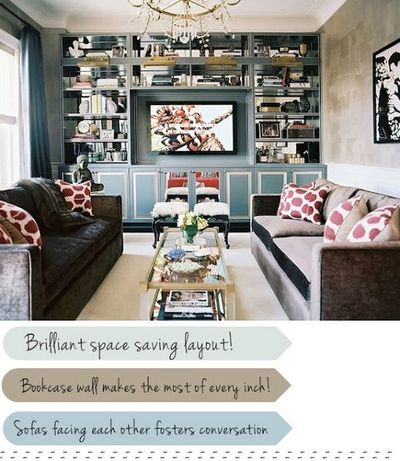 Love The Two Different Sofas Facing Each Other Unified By