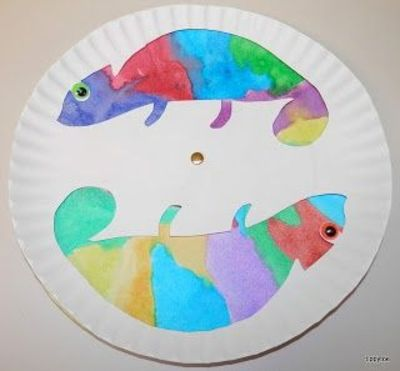 Tippytoe Crafts Colorful Chameleons With Eric Carles B