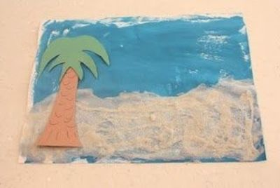 Beach Scene Kids Art Project