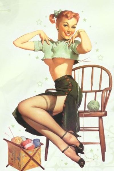 Vintage Pinup Girl Iphone Wallpaper Knits And Kits