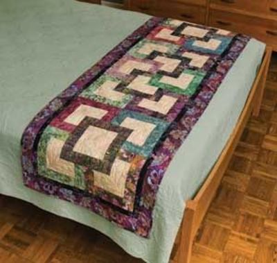 Garden path bed runner pattern quilting fever juxtapost for Bed quilting designs