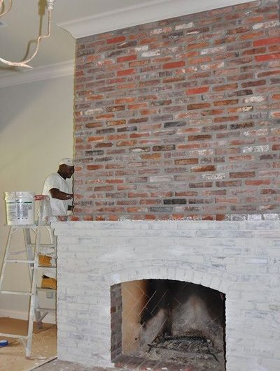 Erica Brand posted lime wash the birck fireplace? to her -For the home- postboard via the Juxtapost bookmarklet.