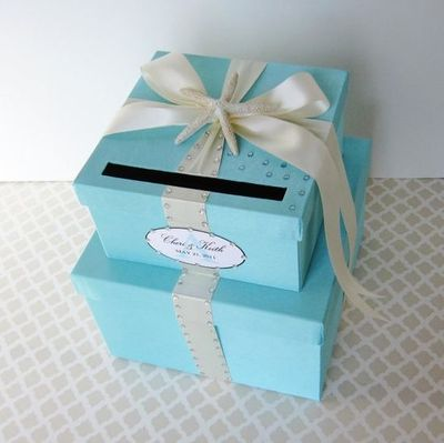 Wedding Card Box Tiffany Aqua Blue Beach Theme Wedding Ideas