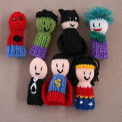 Sweater Knitting Pattern For Beginners : Ravelry: 7 Superhero finger friends Finger Puppets pattern b... / crochet ide...