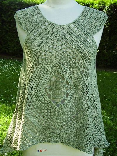 Top 10 Free Crochet Pattern Websites : Ravelry: Lacy Swing Top pattern by Mari Lynn Patrick ...