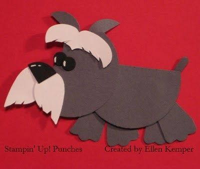 Stampin' Up! Punch Art Ellen Kemper Schnauzer