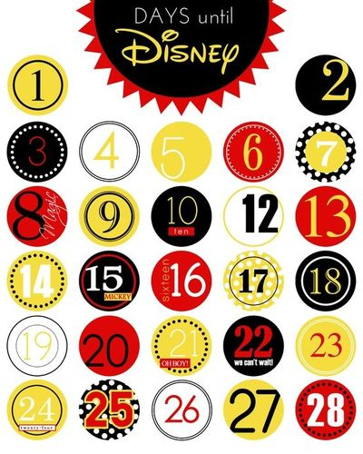 photograph about Disney Countdown Printable called Absolutely free Printable Times Until finally Disney Countdown Taking pictures Magic