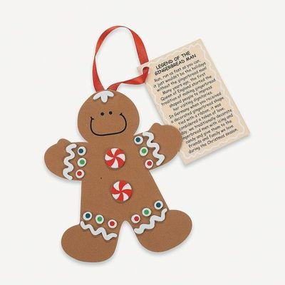 "'�'��""Legend Of The Gingerbread Man'�'� Ornament Craft Kit - OrientalTrading.com"