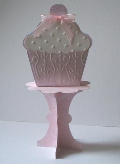 3d Cupcake Cherry On Top Favour Box And Cupcake Stand Svg C
