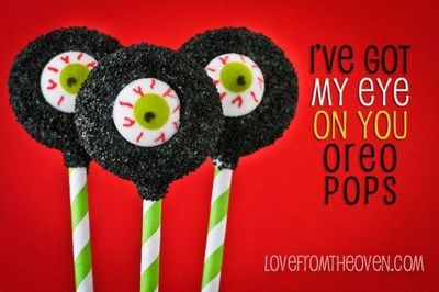 I've Got My Eye On You Oreo Pops by Love From The Oven