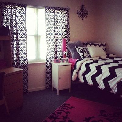 dorm room with chevron bedding for college juxtapost