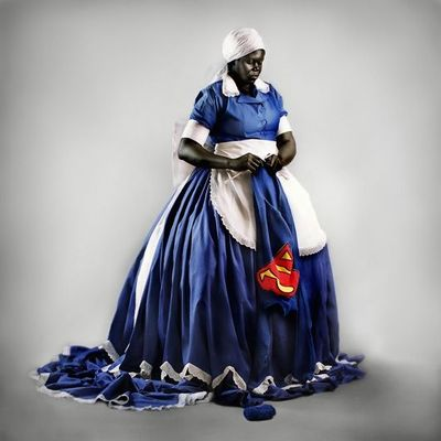"""""""They don't make them like they used to"""" by Mary Sibande - I like it!!"""