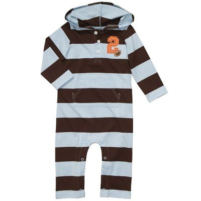 Striped Hooded Jumpsuit | Baby Boy One Pieces
