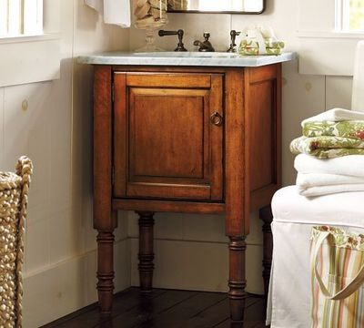 Siena single sink console, Pottery Barn, 22-inches deep, $99 ...