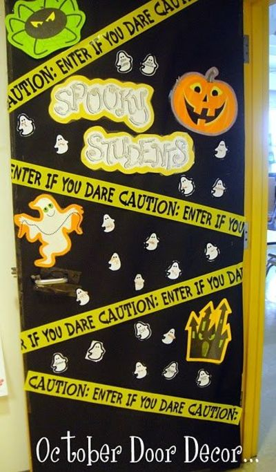Classroom Door Decoration Ideas For October ~ Love decorating my classroom door this is october