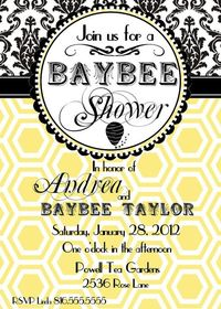Printable Bee Shower Invitation by ElitePartyCreations on Etsy, $8.00