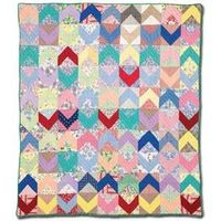 FREE Forties Chevron Quilt Pattern from McCall's Quilting