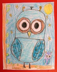 Owl Art Lesson *Drawing week 1