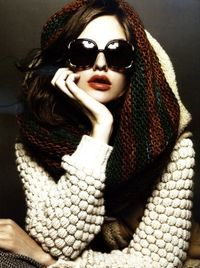 IKOU TSCHUSS café and forest handknitted scarf in L'Express Style Fashion Special September 10 Photographed by Takai Styled by Sheila Single