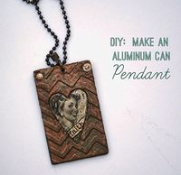 How to make an aluminum can embossed chevron pendant