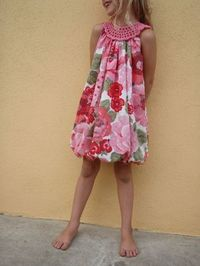 Crochet yoke sun dress