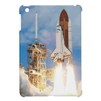 iPad Mini case with the photo of a space shuttle launch