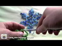 How To Crochet Snow Flake 1 - Part 1 of 2