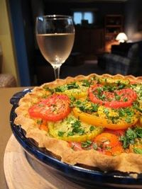Sungold and Heirloom Tomato Pie, from Culinary Types