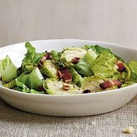 Brussels Sprouts Salad with Warm Bacon Vinaigrette | MyRecipes.com