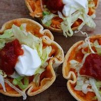Muffin Tin Chicken Tacos - I made this because it's cute