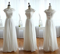 French corded lace wedding gown