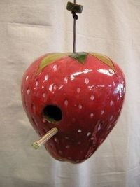 Strawberry Birdhouse by Don Williams Creations