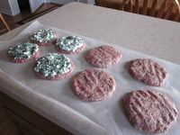 Feta and Spinach stuffed burgers