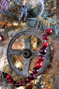 'junk' used to decorate a christmas tree