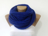 Knitting blue scarf,cowl,knit scarf,knitted women men scarf,for him,for her,ultra soft knit scarf,gift ideas