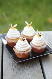 Honey Beehive Cupcakes. LOVE these! So cute!!