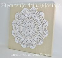 24 ideas to use doilies ~ ways to decorate, wear, or wrap with them #DIY #craft