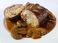 Rouladen filled with Horseradish, Bacon and Sauerkraut