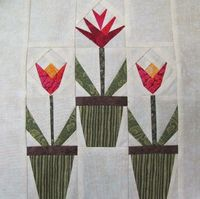 Free Quilting Pattern: Spring Time Bloom Quilt Block