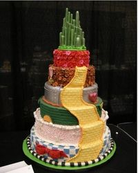 Wizard Of Oz Wedding Cake, this is an amazing cake and theme for a wedding The Wizard of Oz is one of my most favorite movies, I call a wedding do over!!!
