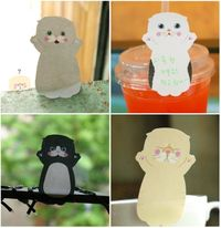 MochiThings.com: Baby Cat Sticky Note Set