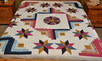 Queen size Star Log Cabin Patchwork Complete by lovequilting, $169.99