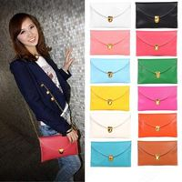 Fashion Women Envelope Clutch Purse Handbag Shoulder Hand Tote Bag 13 Colors