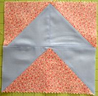 How to make a chevron quilt block