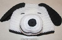 Crochet Creative Creations- Free Patterns and Instructions: Crochet Snoopy Dog Child Hat