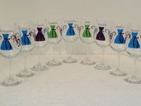 1 Personalized Bridesmaid Wine Glass by WineGlassChic on Etsy, $11.00