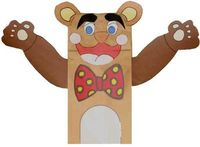 B is for...Bear paper bag puppet with template.