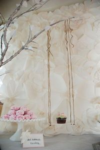 Paper Flower Backdrop: Finish